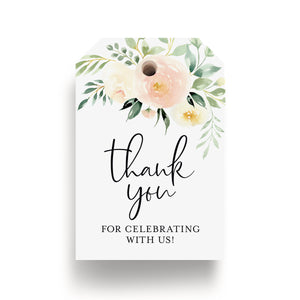 Blush Floral Favor Thank You Tags (Pack of 50)