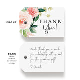 Boho Floral Favor Thank You Tags (Pack of 50)