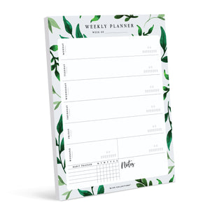 Greenery Weekly Planner Tear-off Pad