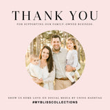 Silver Foil Favor Thank You Tags (Pack of 50)