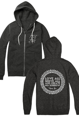 Love All Zip Hoodie (Charcoal)