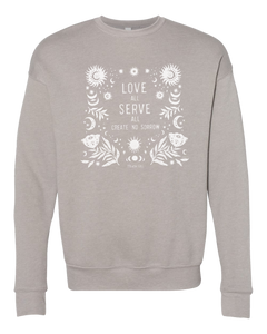 Love All Unisex Crewneck (Heather Stone)