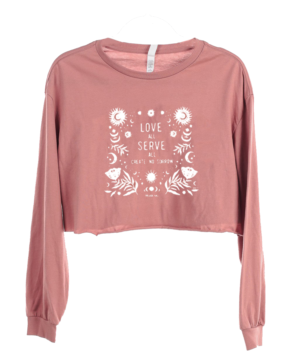 Women's Love All Crop Long Sleeve