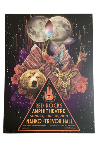 Trevor Hall 2019 Red Rocks Poster