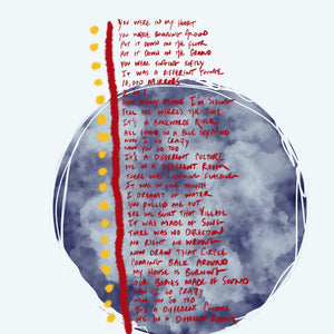 Signed Lyric Painting Print