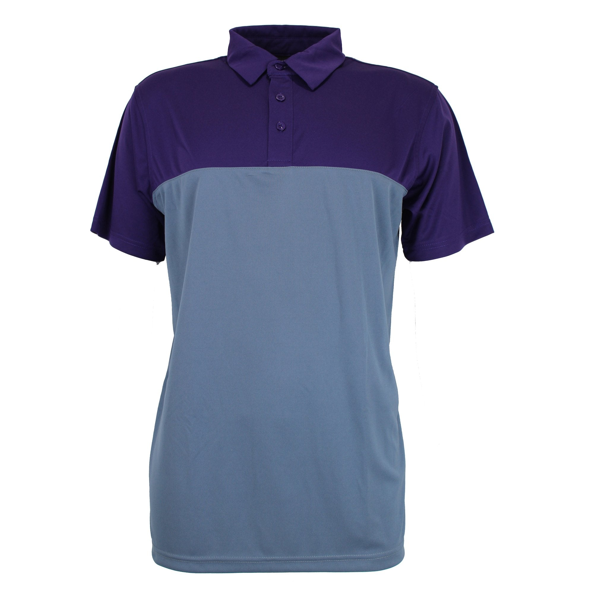 Druids Golf - Mens Block Polo 2018 (Purple/Grey)