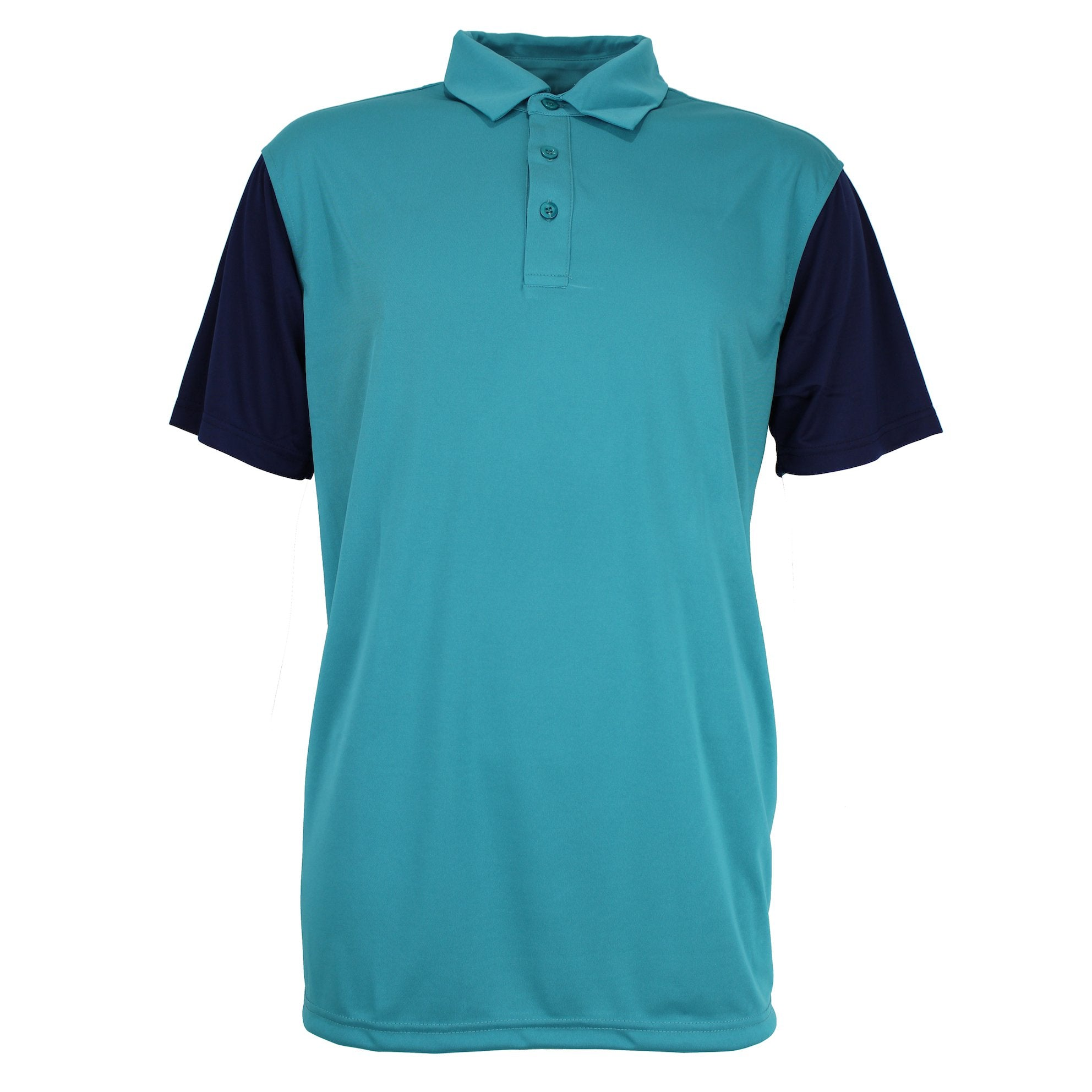 Druids Golf - Mens Casual Polo 2018 (Teal/Navy)