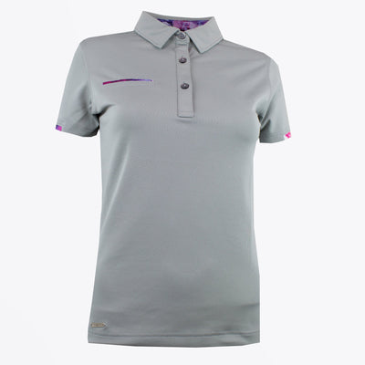 Druids Golf - Ladies Active Flo Trim Polo (Grey)
