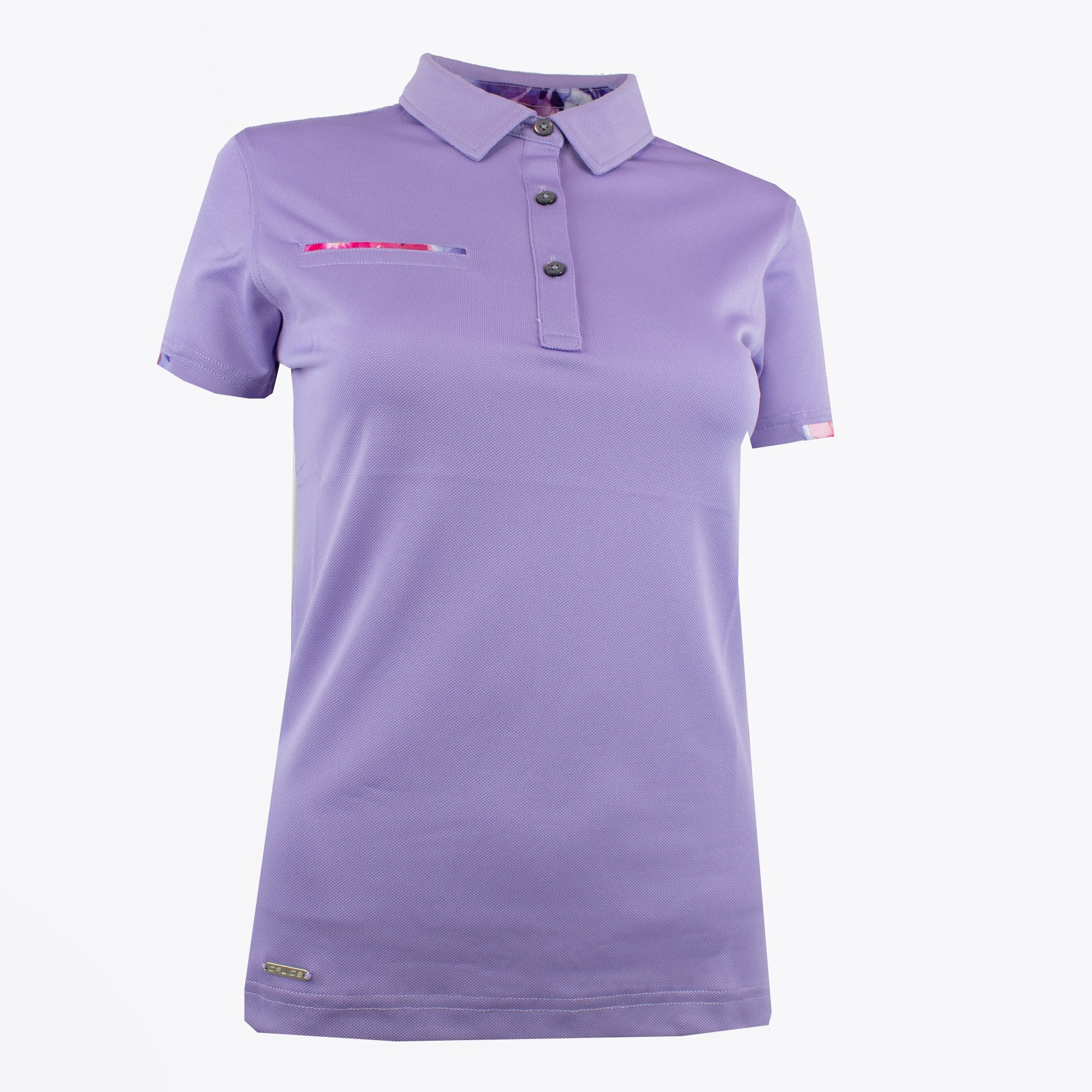 Druids Golf - Ladies Active Flo Trim Polo (Lilac)