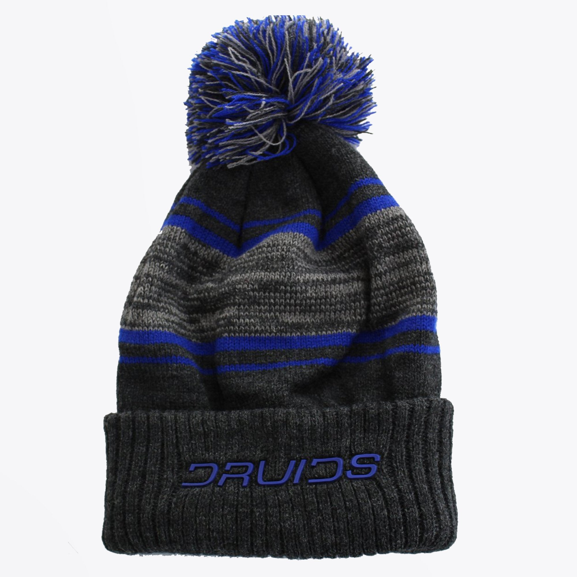 Druids Golf - Mens Striped Beanie Logo (Blue)