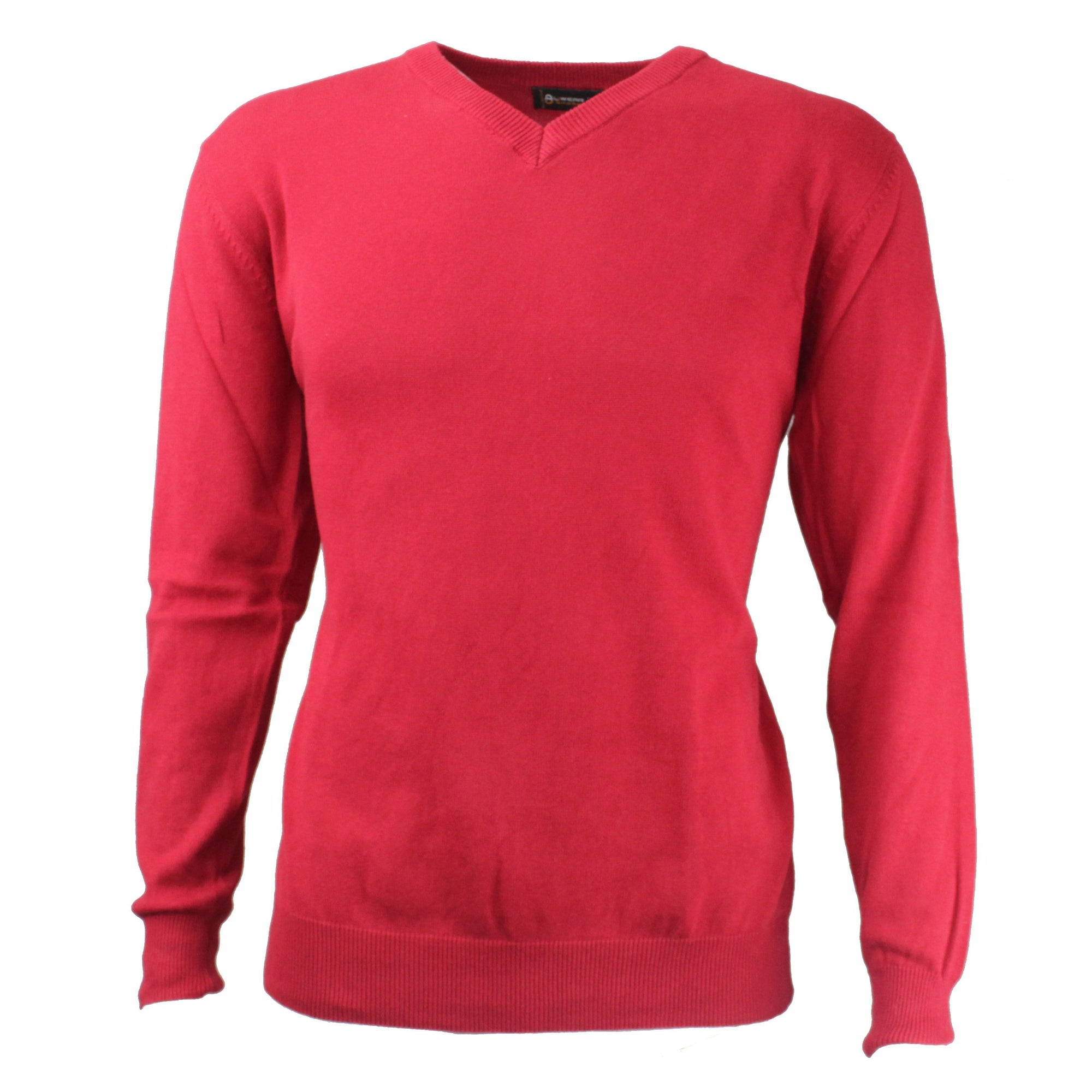 Druids Golf - Cotton V Neck Sweater (Burgandy)