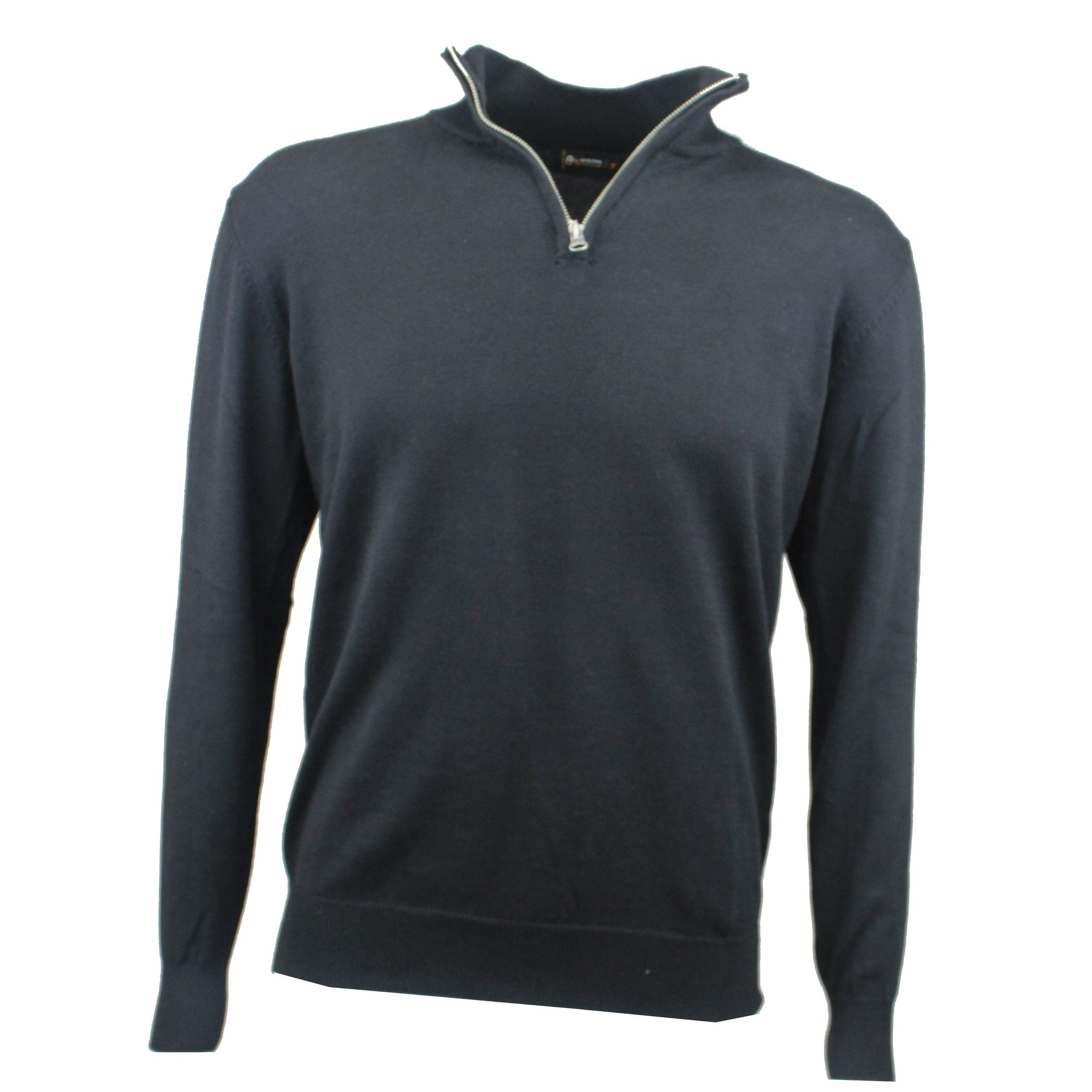 Druids Golf - Cotton Zip Neck Sweater (Black)