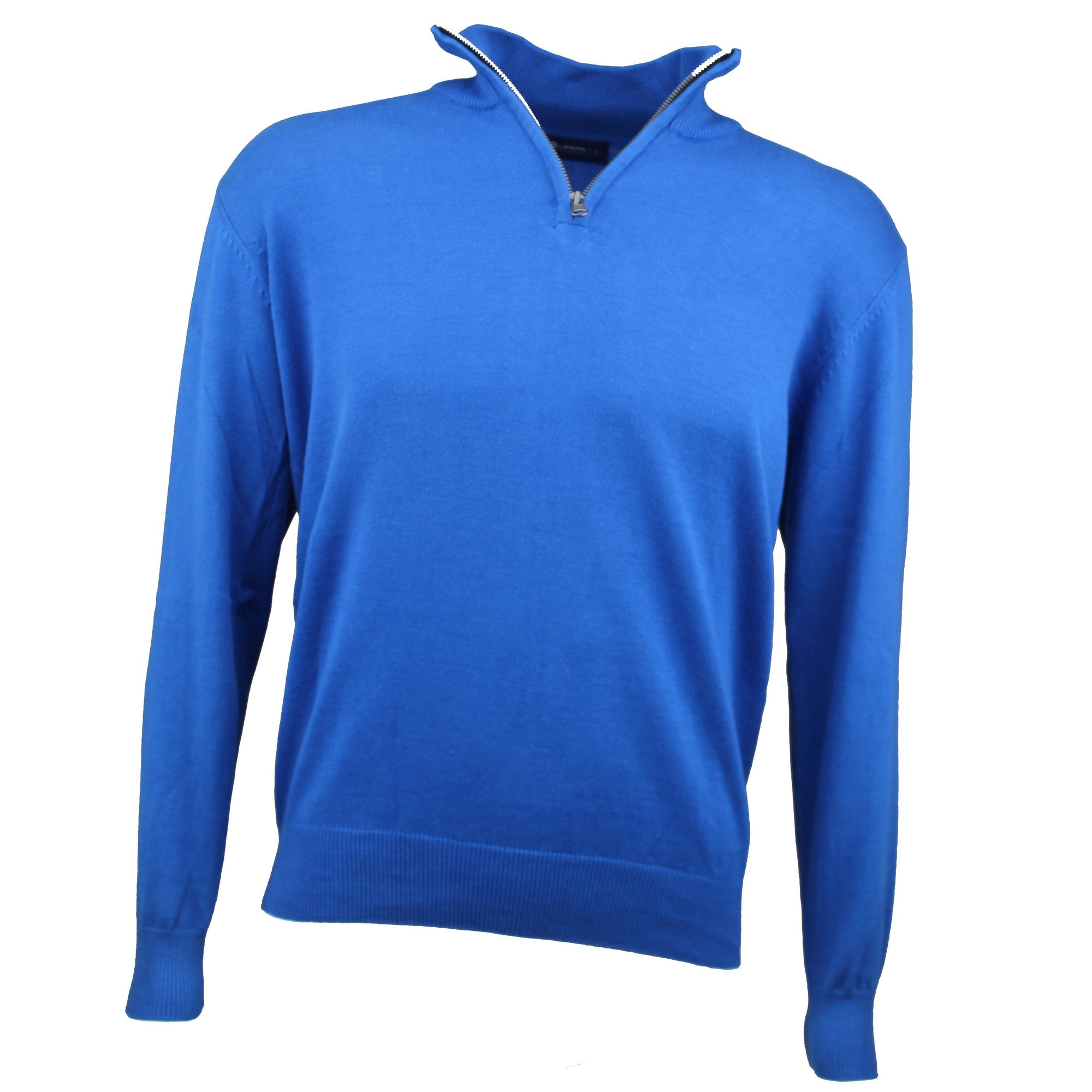Druids Golf - Cotton Zip Neck Sweater (Blue)