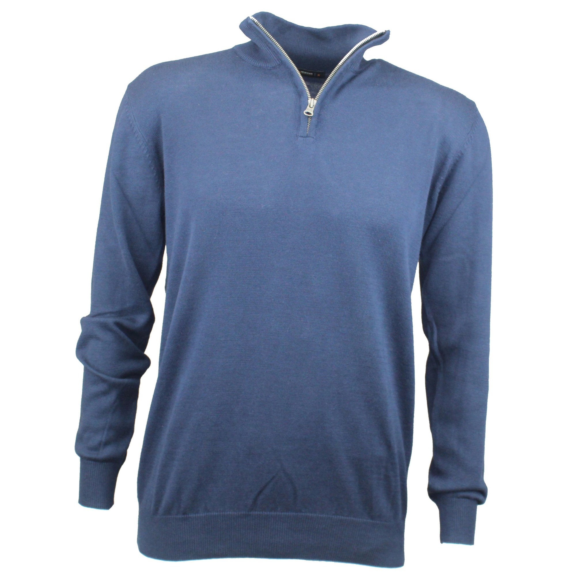 Druids Golf - Cotton Zip Neck Sweater (Navy)