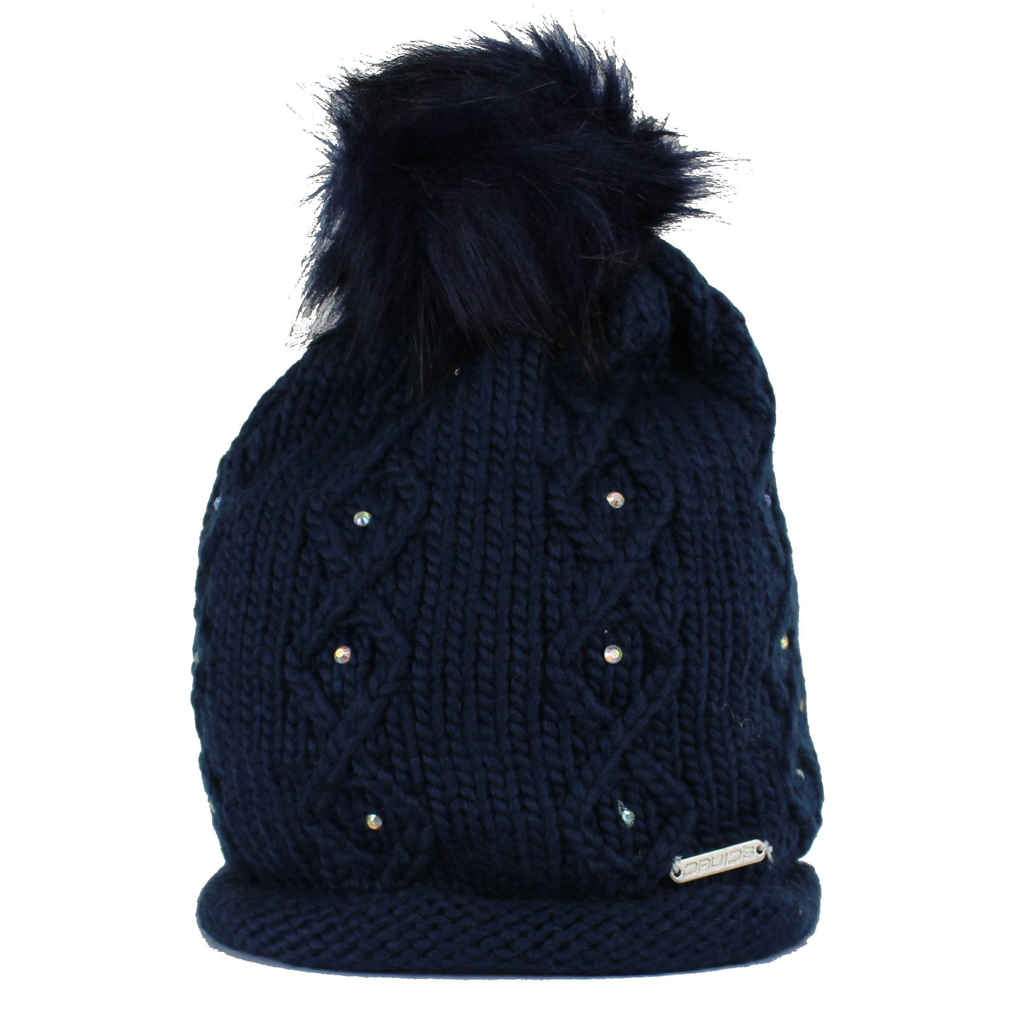 Druids Golf - Ladies Diamante Beanie (Navy)
