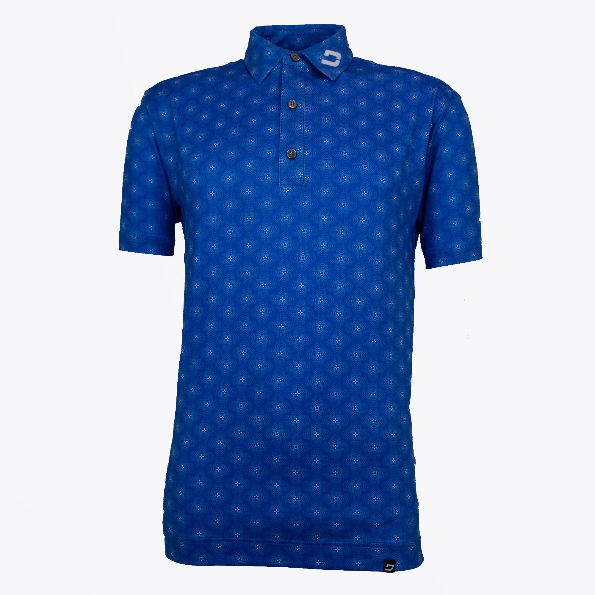 Druids Golf - Mens Floral Polo (Blue)