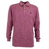 Druids Golf - Mens LS Polo 2018 (Burgandy)