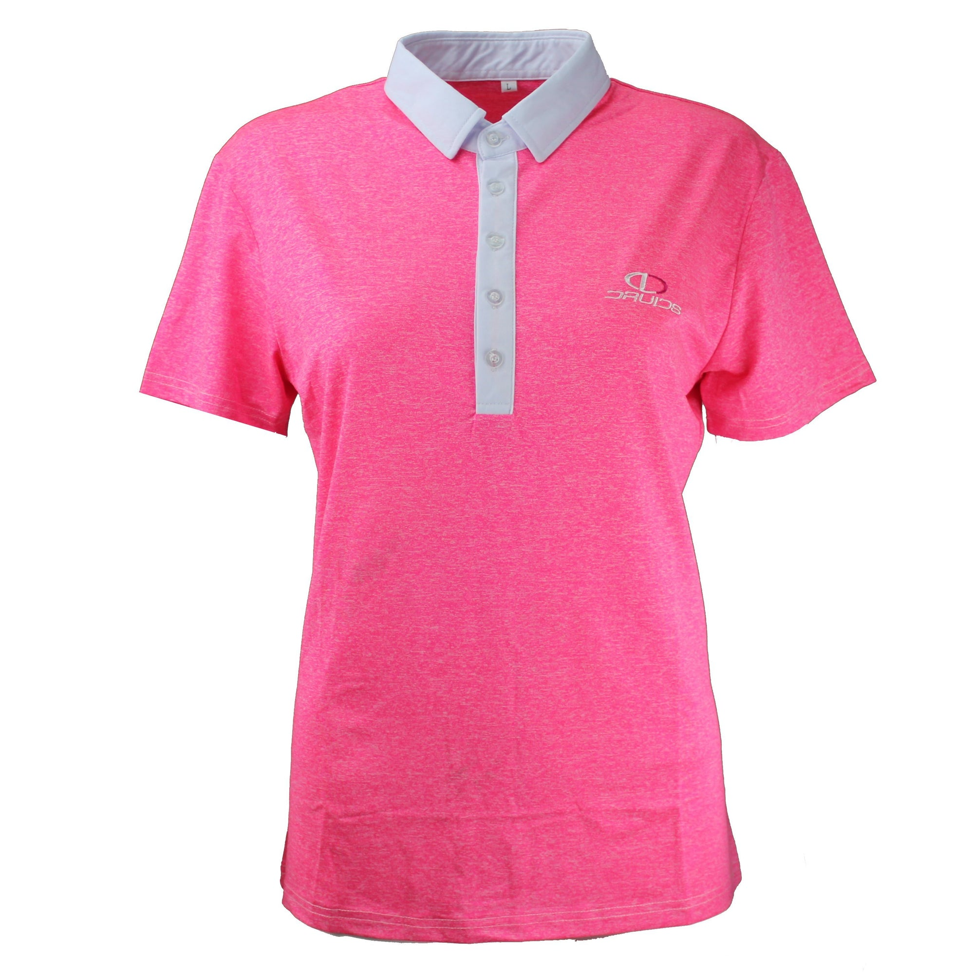 Druids Golf - Ladies Speckled Polo 2018 (Pink)