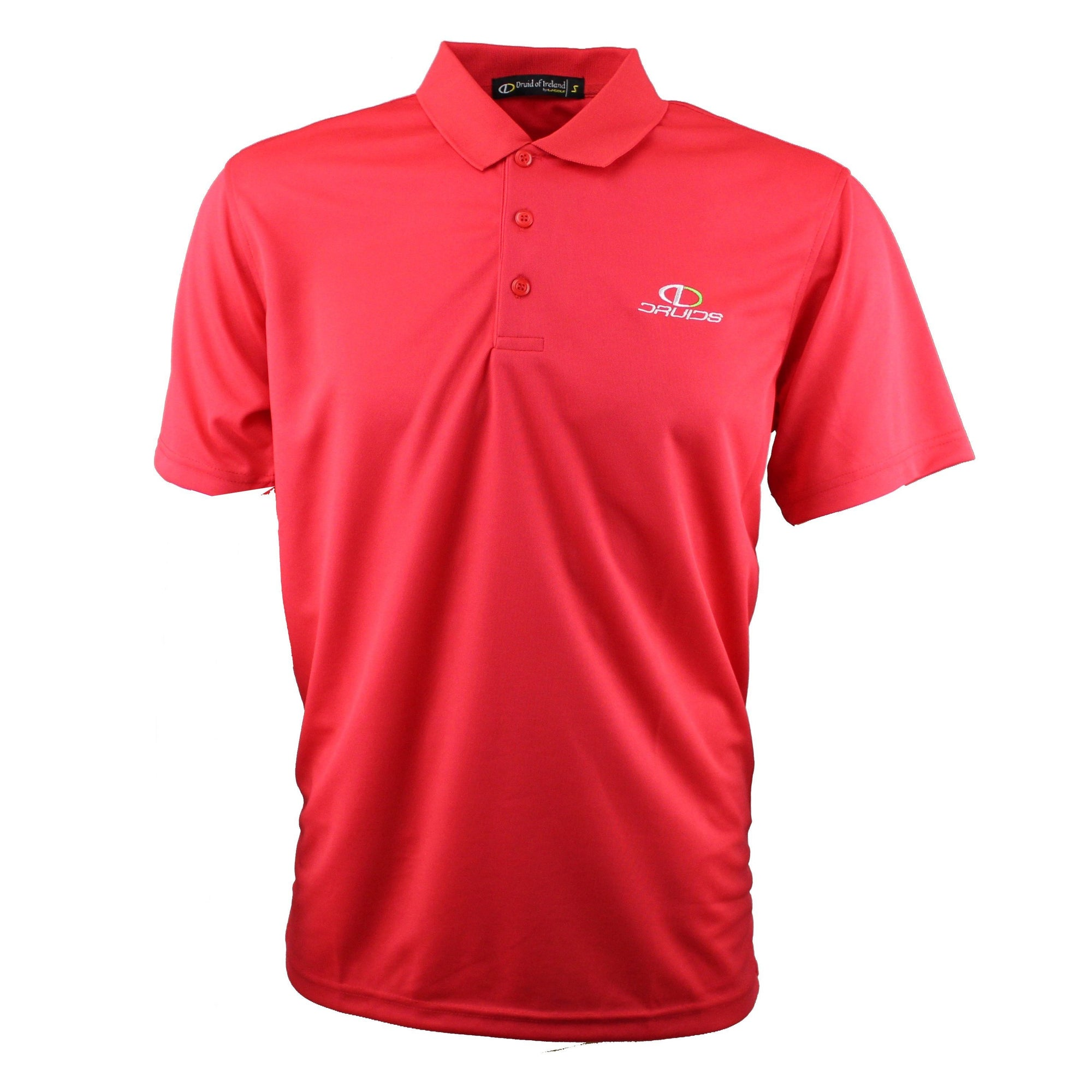 Druids Golf - Mens Performance Polo (Red)