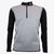Druids Golf - Mens Storm Stripe 1/4 Zip (Black/Grey)