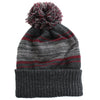 Druids Golf - Mens Striped Corporate Beanie (Burgandy)