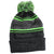 Druids Golf - Mens Striped Corporate Beanie (Green)