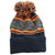 Druids Golf - Mens Striped Corporate Beanie (Orange)