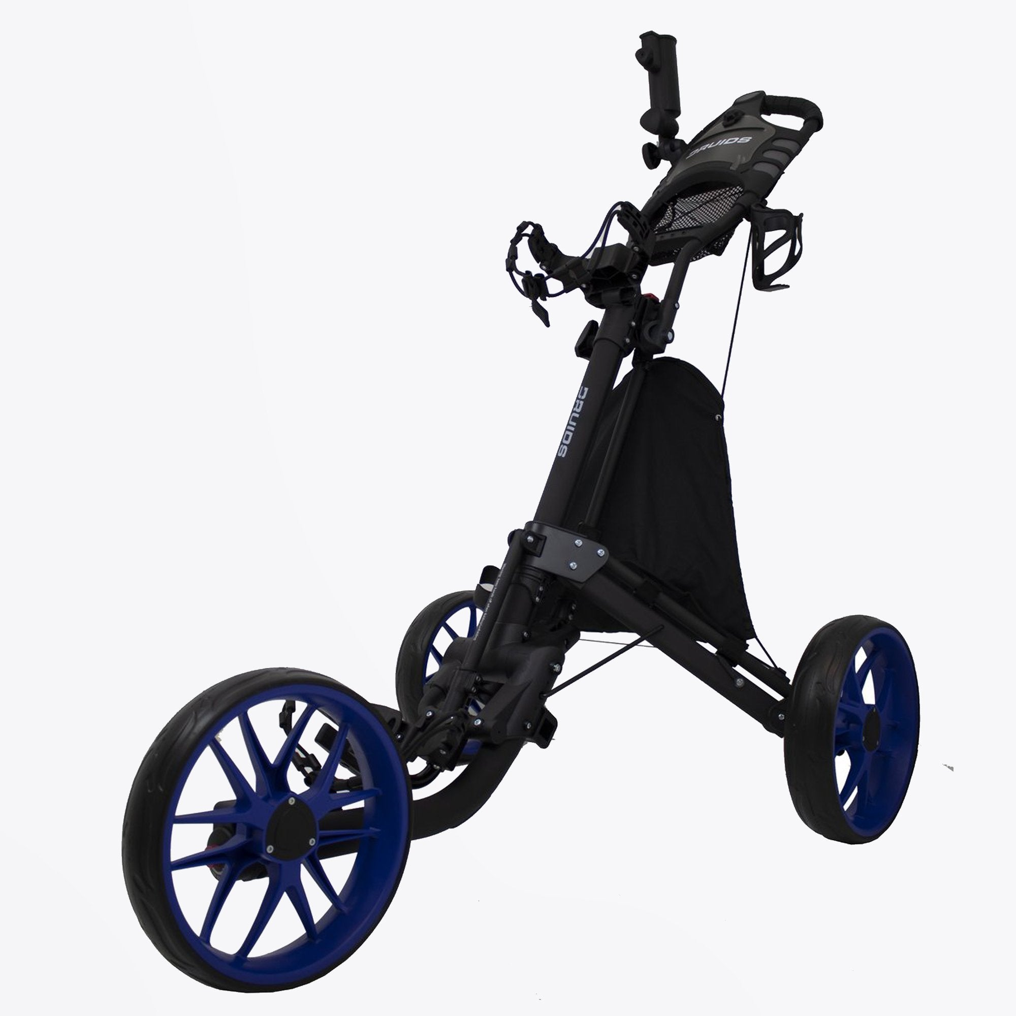 Druids Golf - Compact EZ Carbon Trolley (Black/Blue)