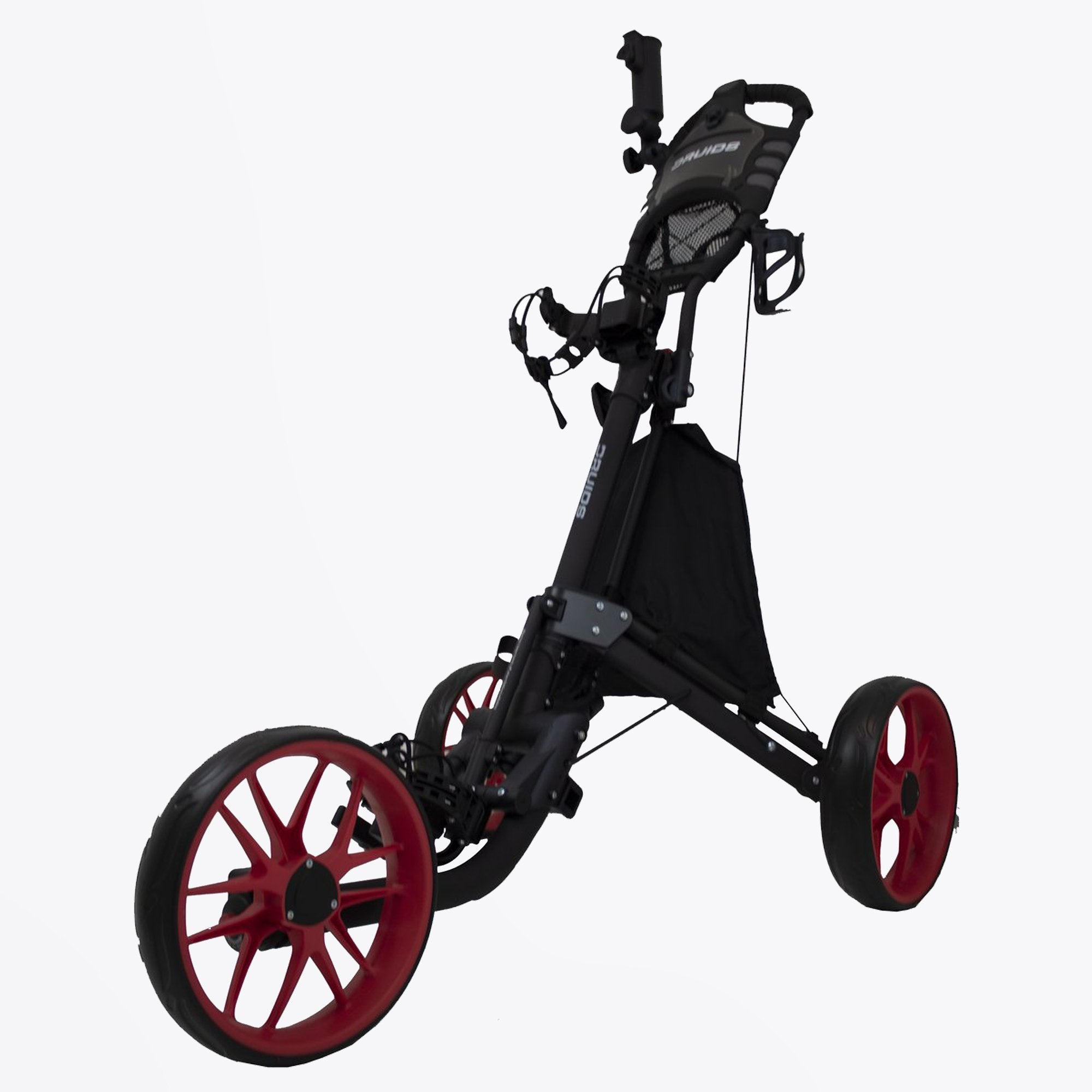 Druids Golf - Compact EZ Carbon Trolley (Black/Red)