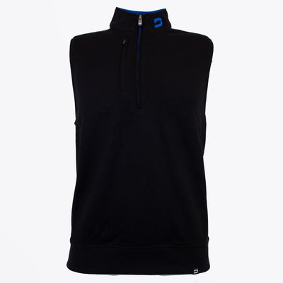 Druids Golf - Mens Two Tone 1/4 Zip Gilet (Black)