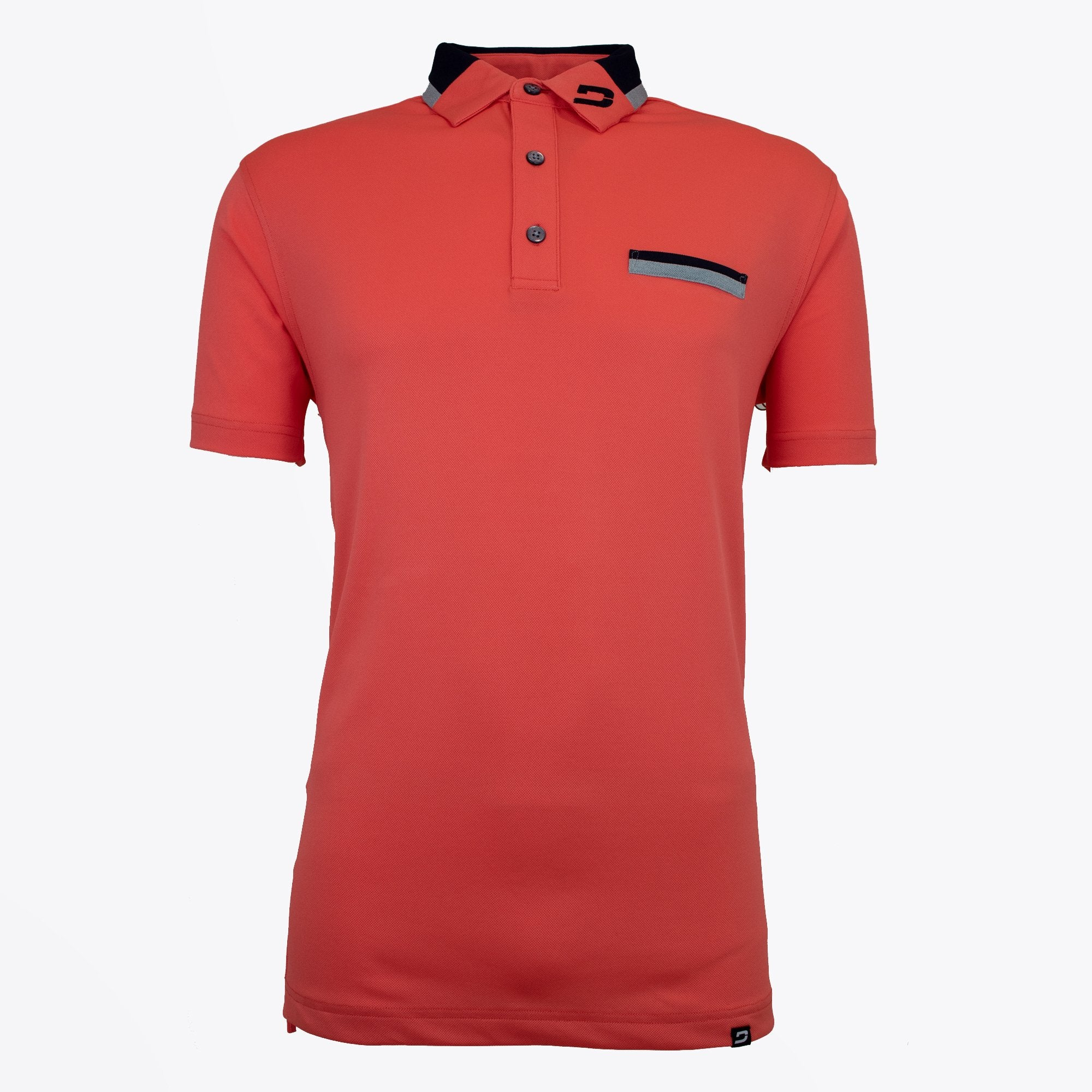 Druids Golf - Mens Two Tone Polo (Red)