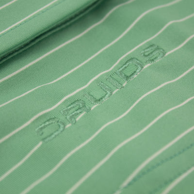 Druids Golf - Mens Pin Stripe Polo (Green)