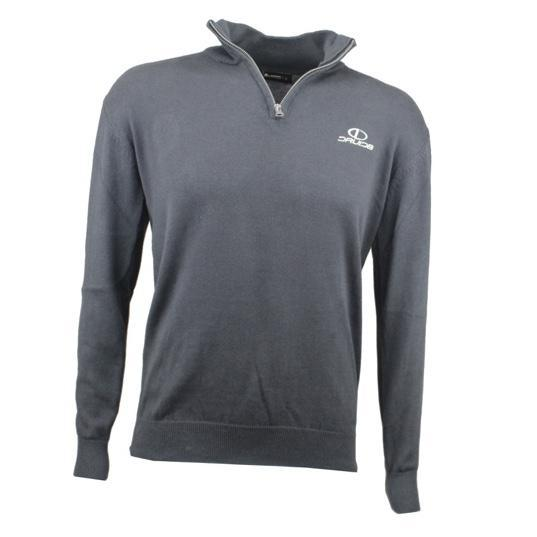 Druids Golf - Cotton Zip Neck Sweater (Charcoal)