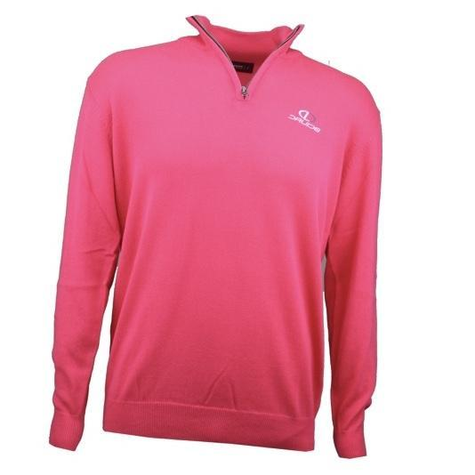 Druids Golf - Cotton Zip Neck Sweater (Pink)