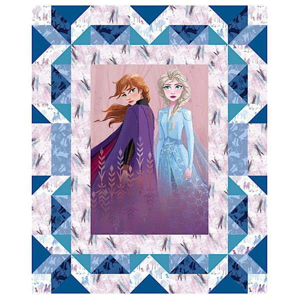 Frozen Anna and Elsa Quilt Panel to sew