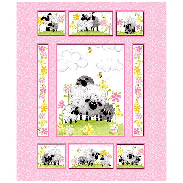 Susybee's La the Lamb Quilt Panel to sew