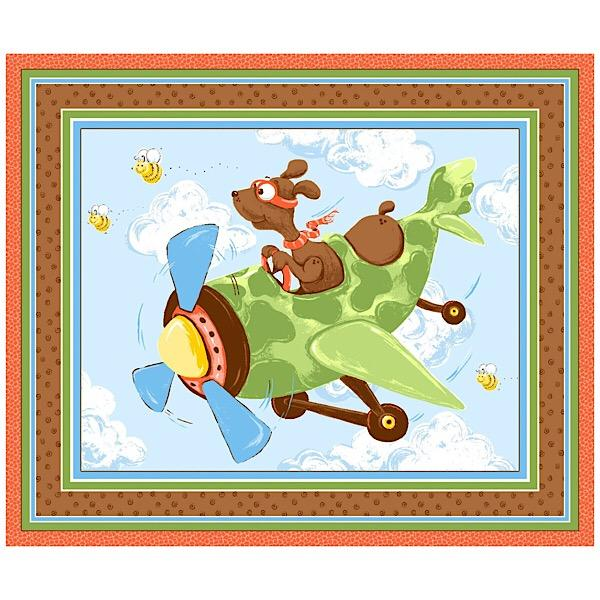 Susybee's Zig the Flying Ace Play Mat Panel to sew - QuiltGirls®