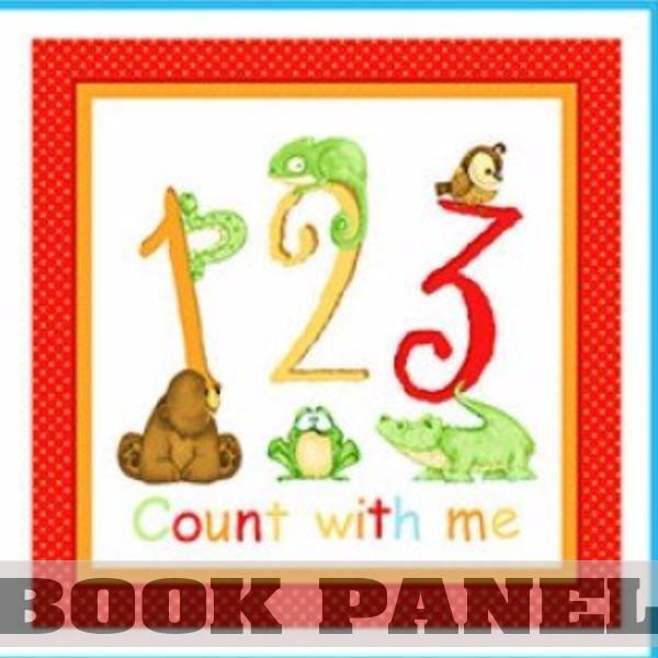 123 Count with Me Fabric Book Panel to Sew