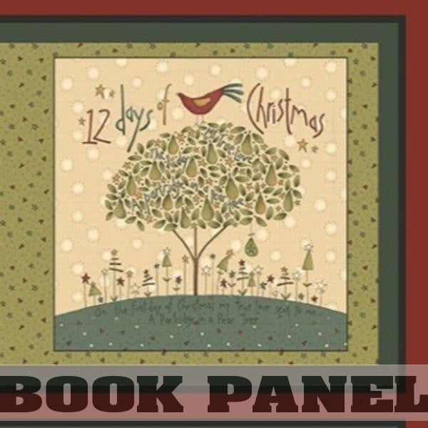 Twelve Days of Christmas Fabric Book Panel to Sew