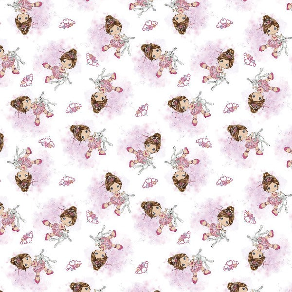 Precious Moments Ballerina Dance Fabric to sew - QuiltGirls®