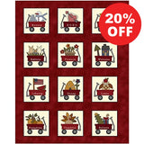 My Red Wagon Calendar Panel to sew - QuiltGirls®