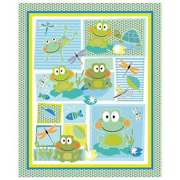 Toadally Cute Quilt Panel to sew
