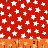 RED Windham Basics Red Stars Fabric to sew - QuiltGirls®