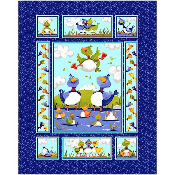 Susybee's Bill and Bob Best Friends Quilt Panel to sew - QuiltGirls®