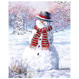 Snowman in a Snowy Field Panel to Sew - QuiltGirls®