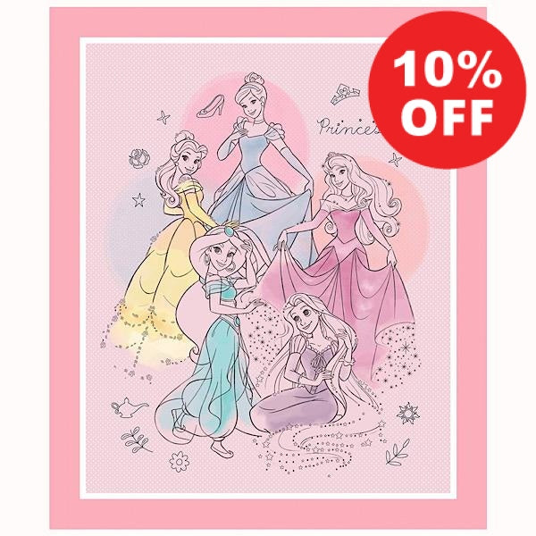 Disney's Pretty Princess Quilt Panel to sew - QuiltGirls®