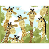 Susybee's Giraffe Play Mat Panel to sew - QuiltGirls®