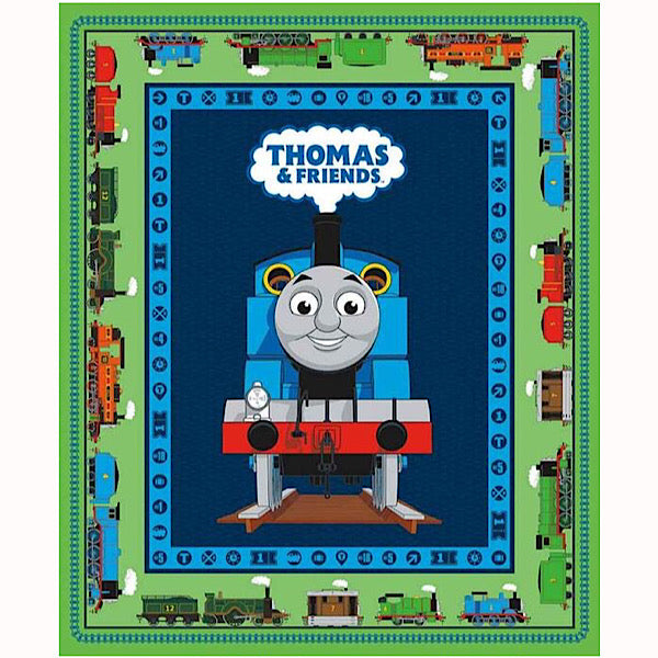 Thomas and Friends Green Quilt Panel to sew - QuiltGirls®
