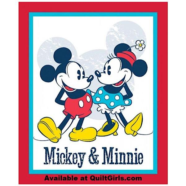 Mickey N Minnie Quilt Panel to sew