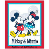 Mickey N Minnie Quilt Panel to sew - QuiltGirls®